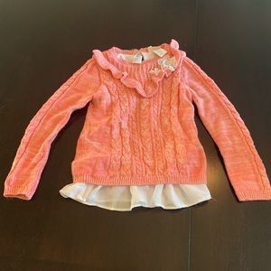 5/$15! Little lass peach sweater with blouse